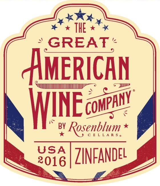 The Great American Wine Company by Rosenblum Zinfandel 2016  Front Label