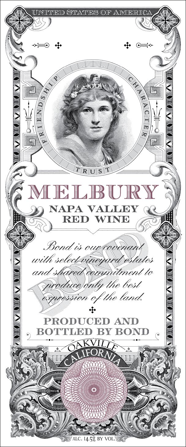 Bond Melbury 2002  Front Label