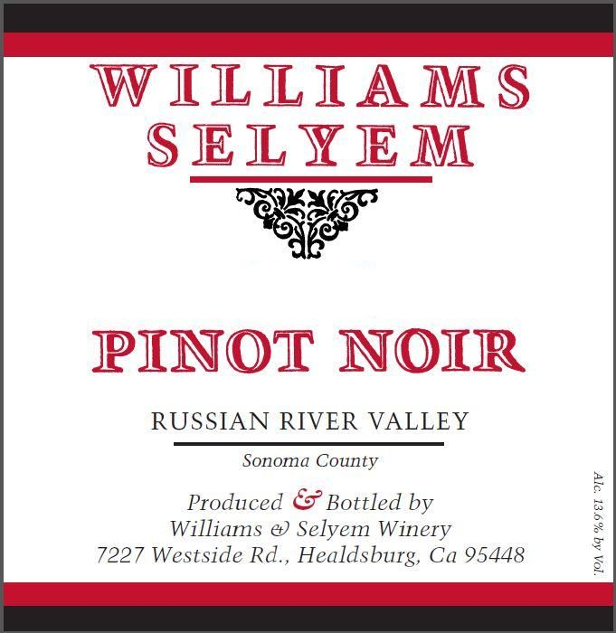 Williams Selyem Russian River Valley Pinot Noir 2017 Front Label