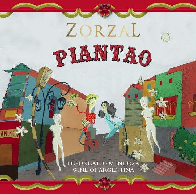 Zorzal Piantao 2013  Front Label