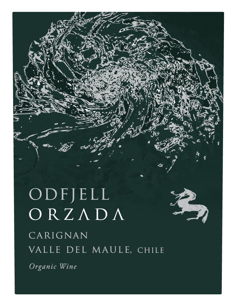 Odfjell Orzada Organic Carignan 2017  Front Label
