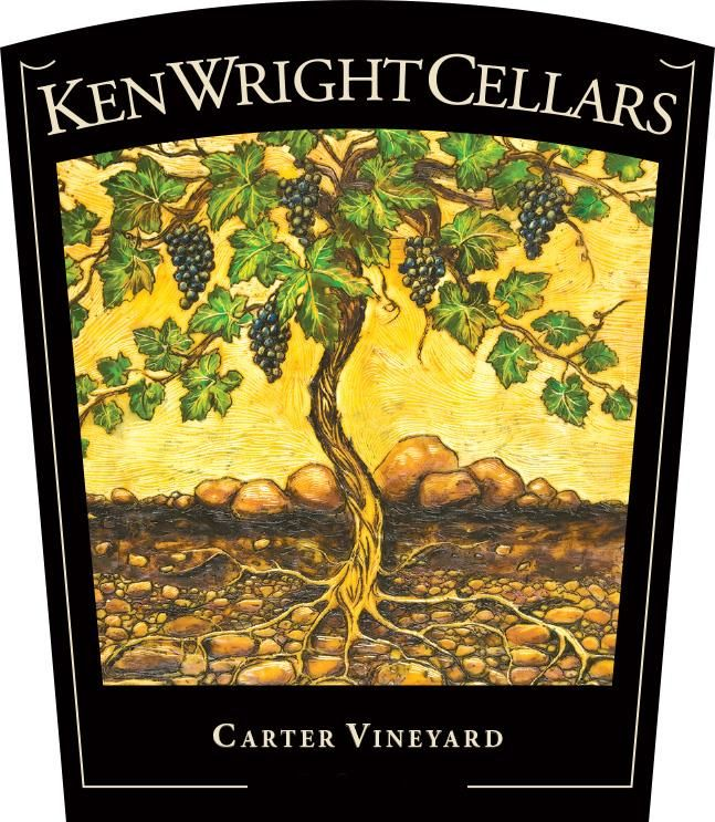 Ken Wright Cellars Carter Vineyard Pinot Noir (375ML half-bottle) 2017 Front Label