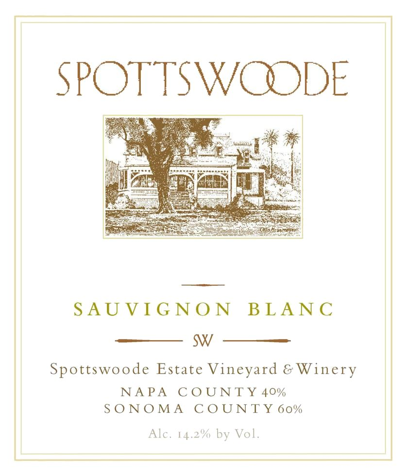 Spottswoode Sauvignon Blanc (375ML half-bottle) 2018 Front Label