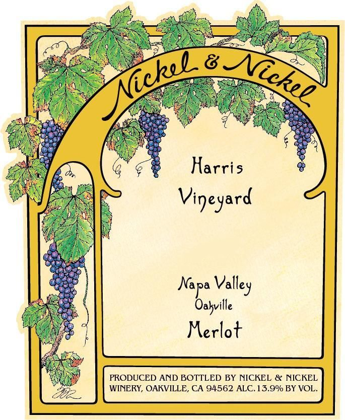 Nickel & Nickel Harris Vineyard Merlot 2016  Front Label