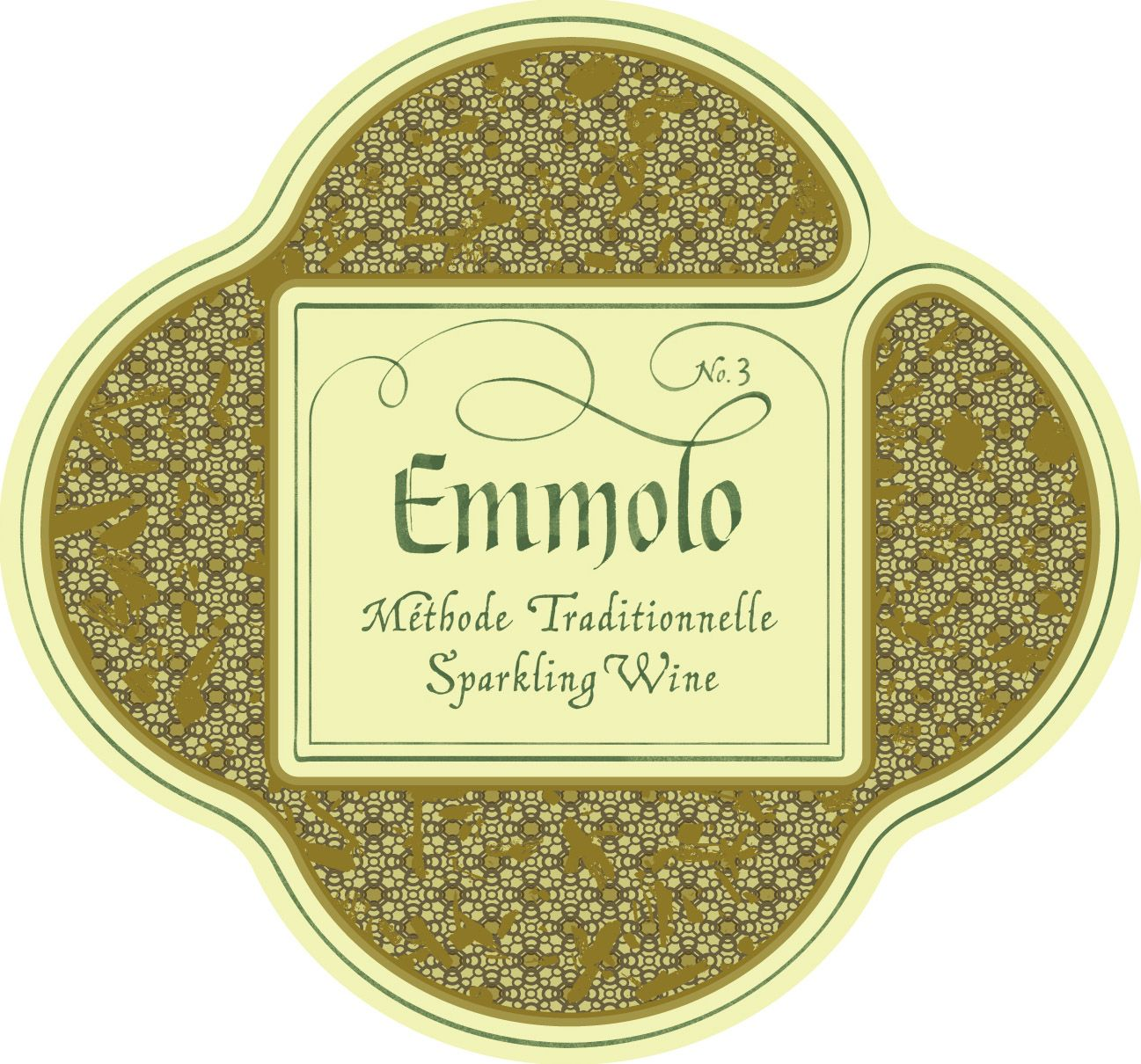 Emmolo Methode Traditionelle Sparkling Wine No. 3  Front Label