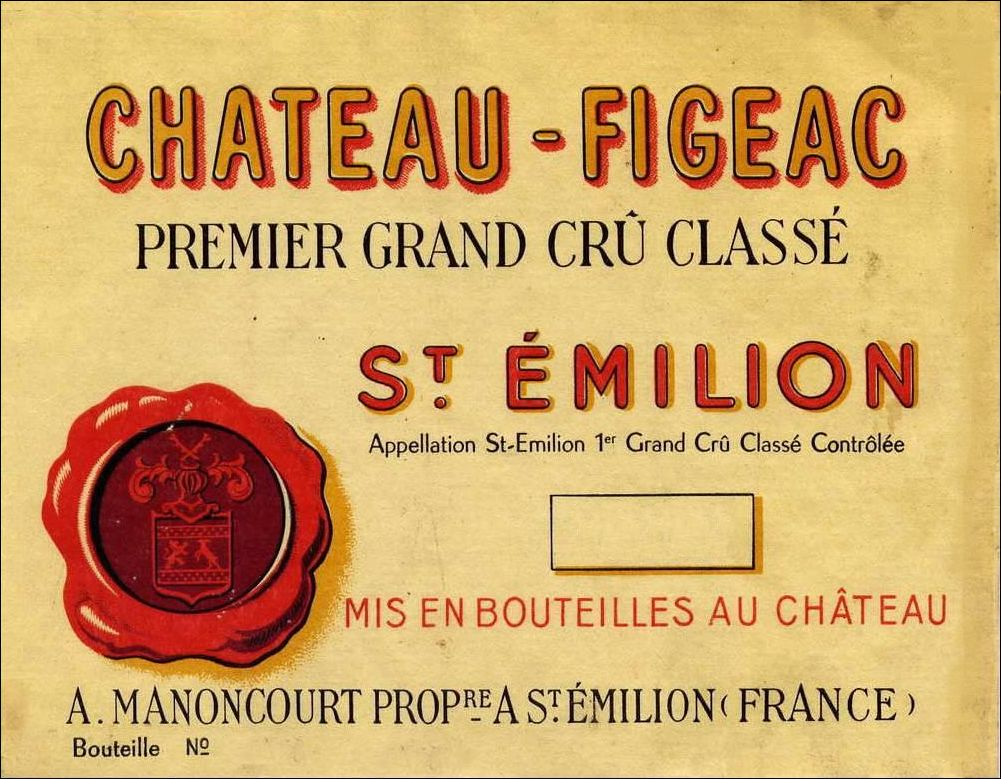 Chateau Figeac  1970  Front Label