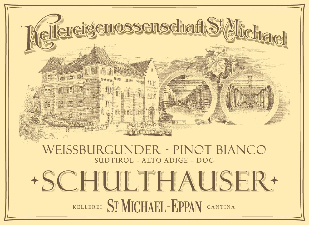 St. Michael-Eppan Schulthauser Pinot Bianco 2018  Front Label