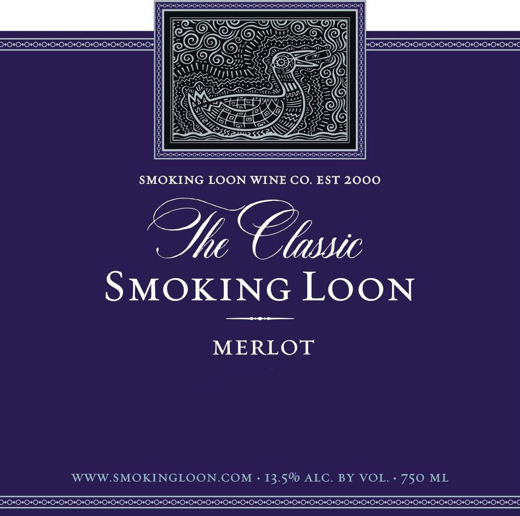 Smoking Loon Merlot 2017  Front Label