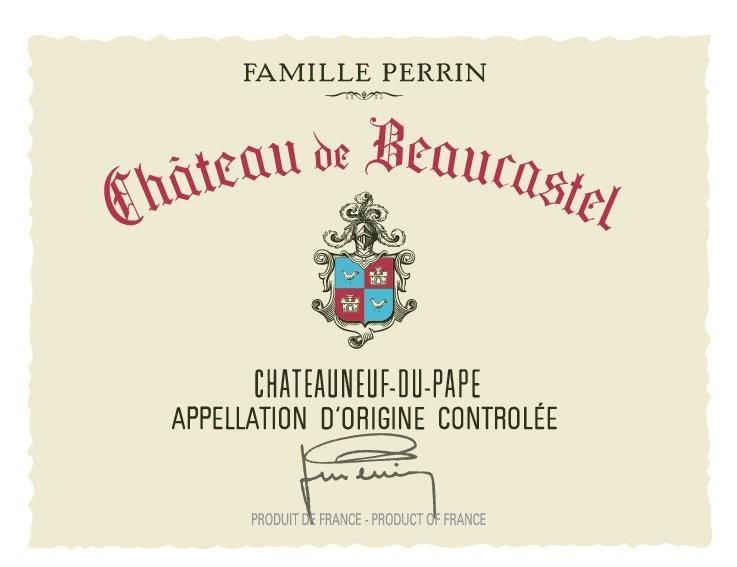 Chateau de Beaucastel Chateauneuf-du-Pape (3 Liter Bottle) 2017  Front Label