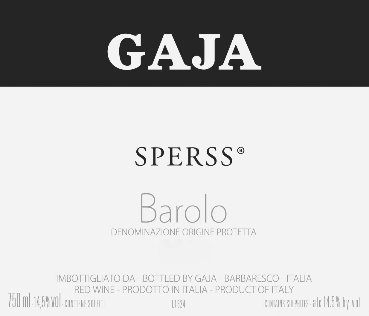 Gaja Sperss 2015  Front Label