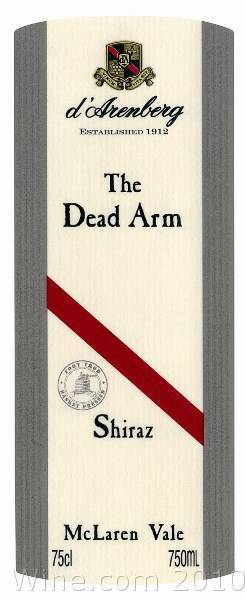 d'Arenberg The Dead Arm Shiraz 2004  Front Label