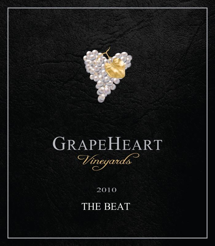 GrapeHeart The Beat Red 2010  Front Label