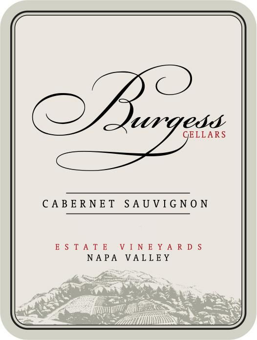 Burgess Estate Cabernet Sauvignon 2014 Front Label