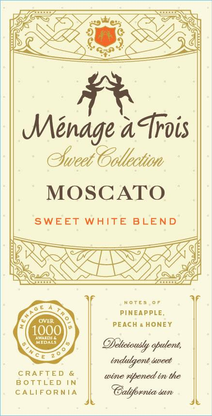 Menage a Trois Sweet Collection Moscato 2019  Front Label