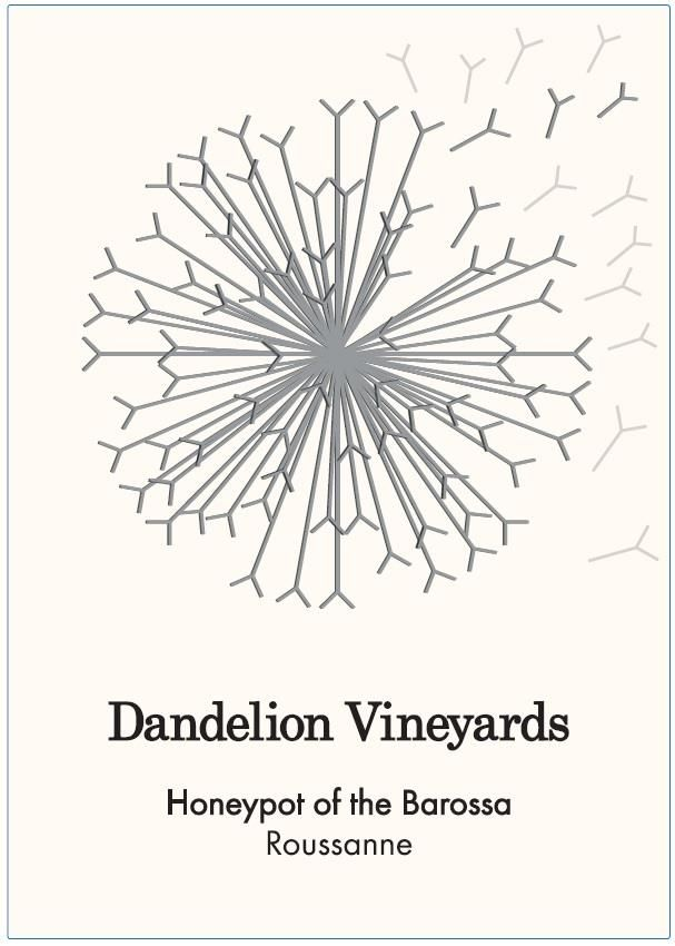 Dandelion Vineyards Honeypot of the Barossa Roussanne 2018  Front Label
