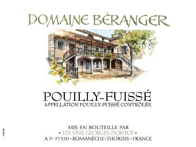 Duboeuf Domaine Beranger Pouilly-Fuisse 2017  Front Label