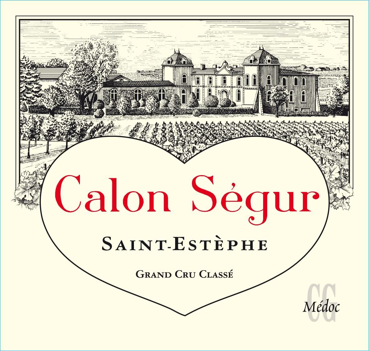 Chateau Calon-Segur (375ML half-bottle) 2015  Front Label