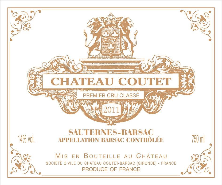 Chateau Coutet (375ML half-bottle) 2011  Front Label