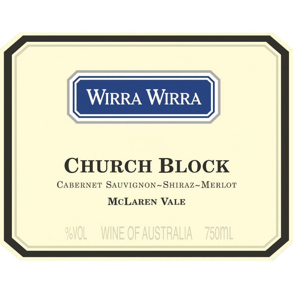 Wirra Wirra Church Block CSM 2017  Front Label