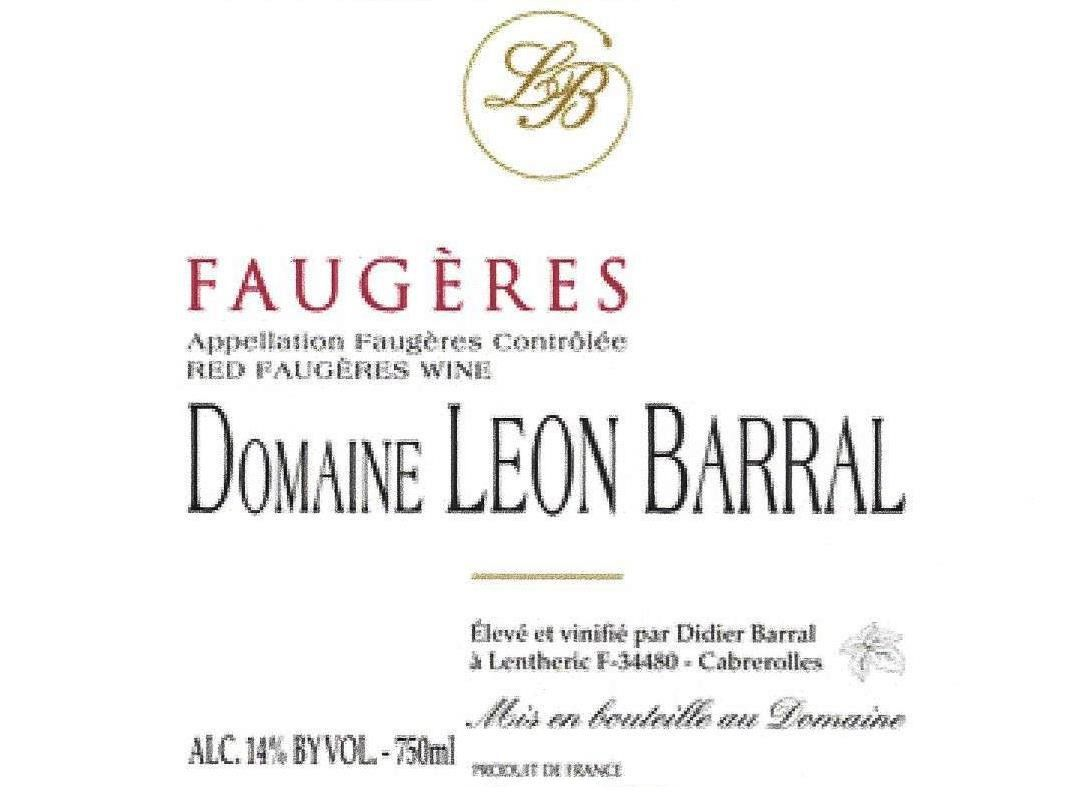 Domaine Leon Barral Faugeres 2014 Front Label