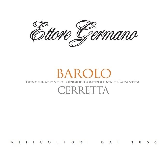 Ettore Germano Barolo Cerretta 2015  Front Label