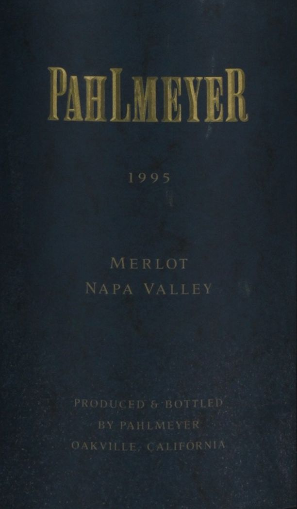 Pahlmeyer Merlot 1995  Front Label