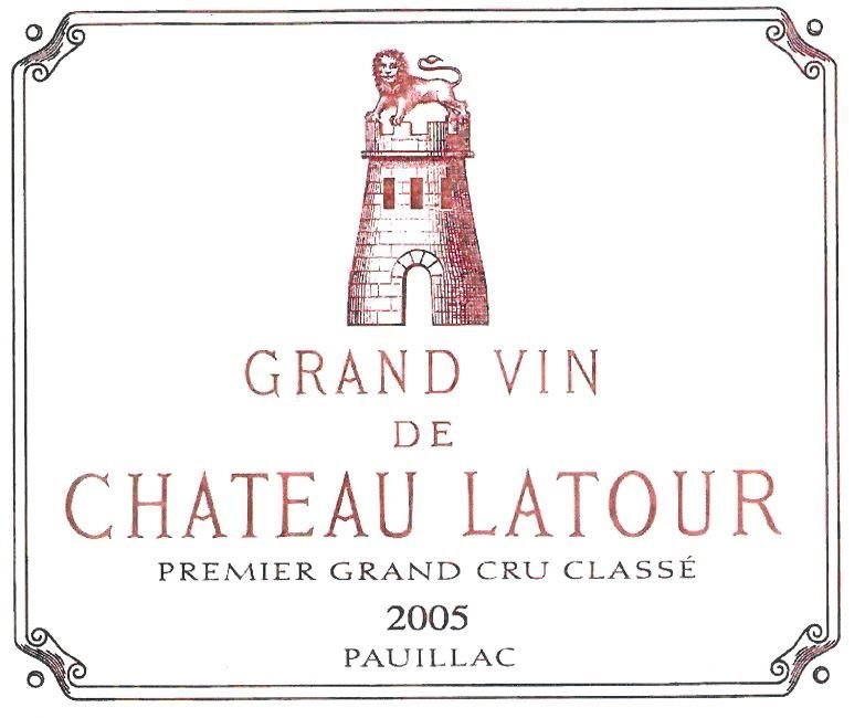 Chateau Latour (3 Liter Bottle) 2005  Front Label