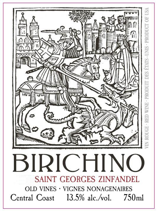 Birichino Saint Georges Old Vines Zinfandel 2016 Front Label