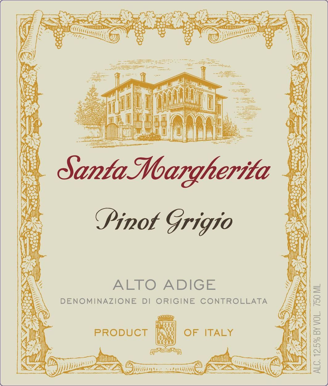 Santa Margherita Pinot Grigio (375ML half-bottle) 2019  Front Label