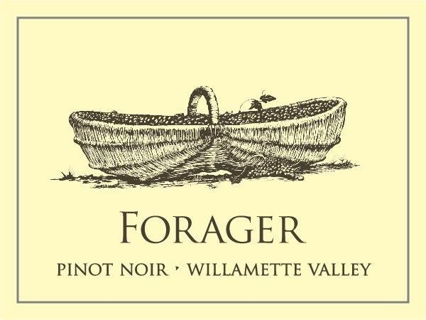 Scenic Root Winegrowers Willamette Valley The Forager Pinot Noir 2017  Front Label