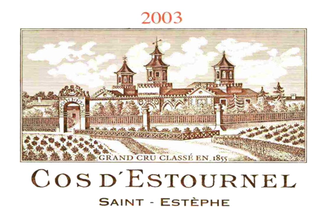 Chateau Cos d'Estournel (3 Liter) 2003  Front Label