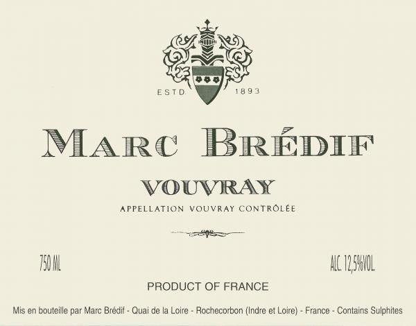 Marc Bredif Vouvray 2018  Front Label