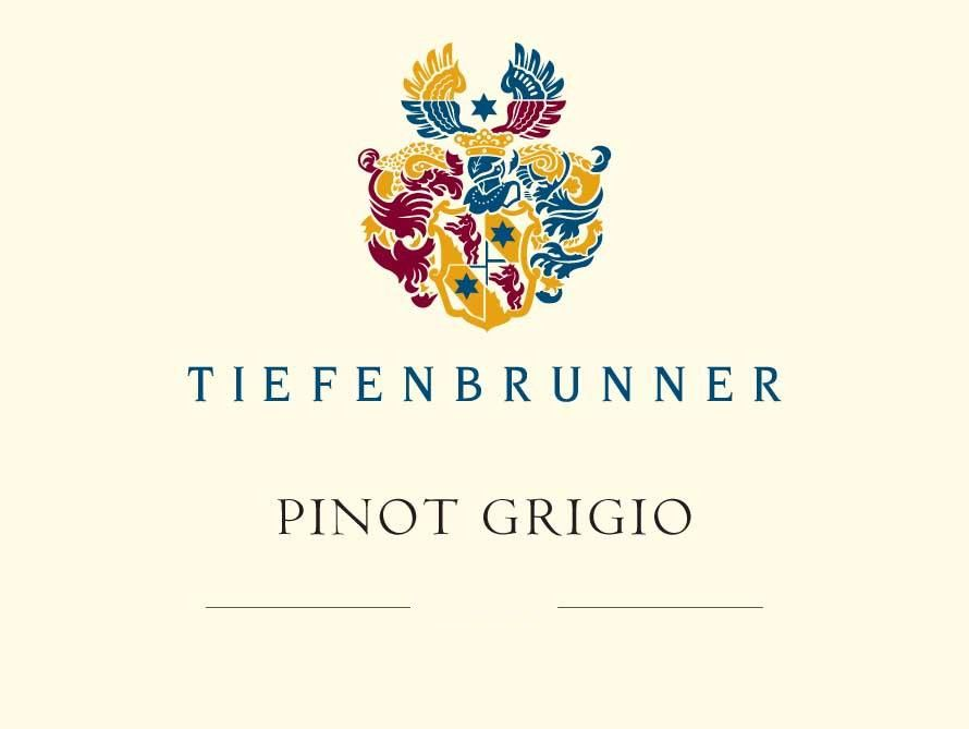 Tiefenbrunner Pinot Grigio 2018 Front Label