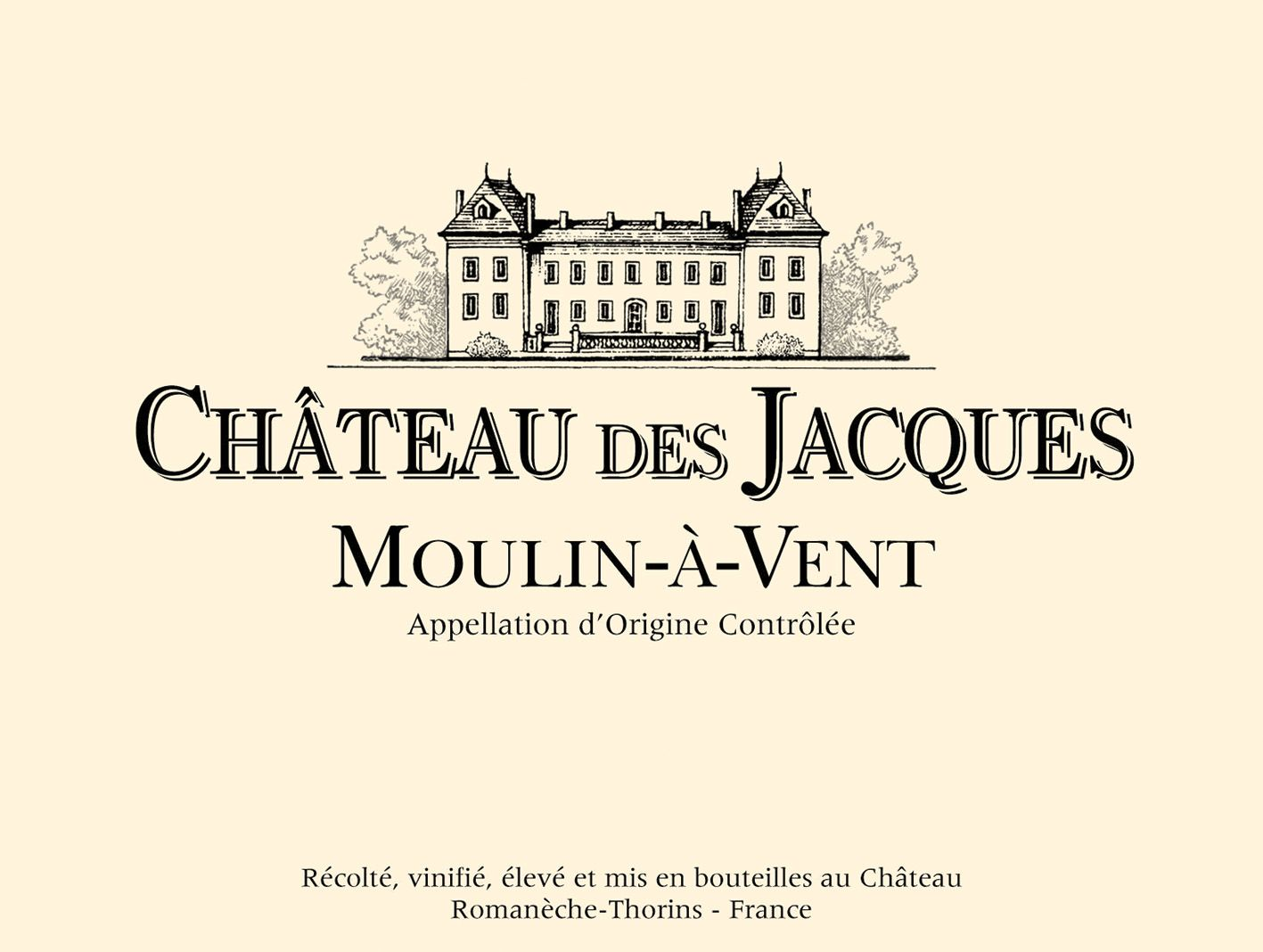 Chateau des Jacques Moulin-a-Vent 2016  Front Label
