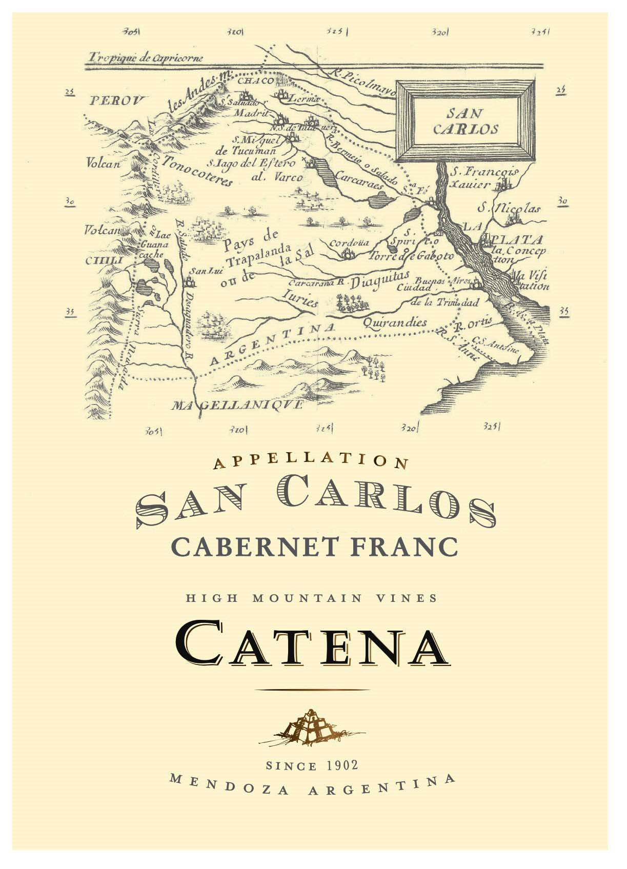 Catena Appellation San Carlos Cabernet Franc 2018  Front Label