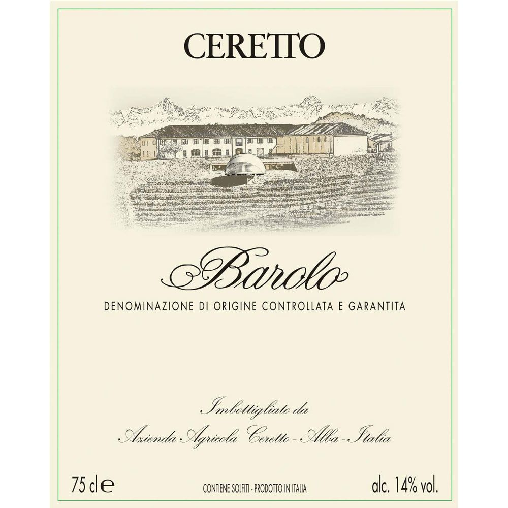 Ceretto Barolo 2015  Front Label