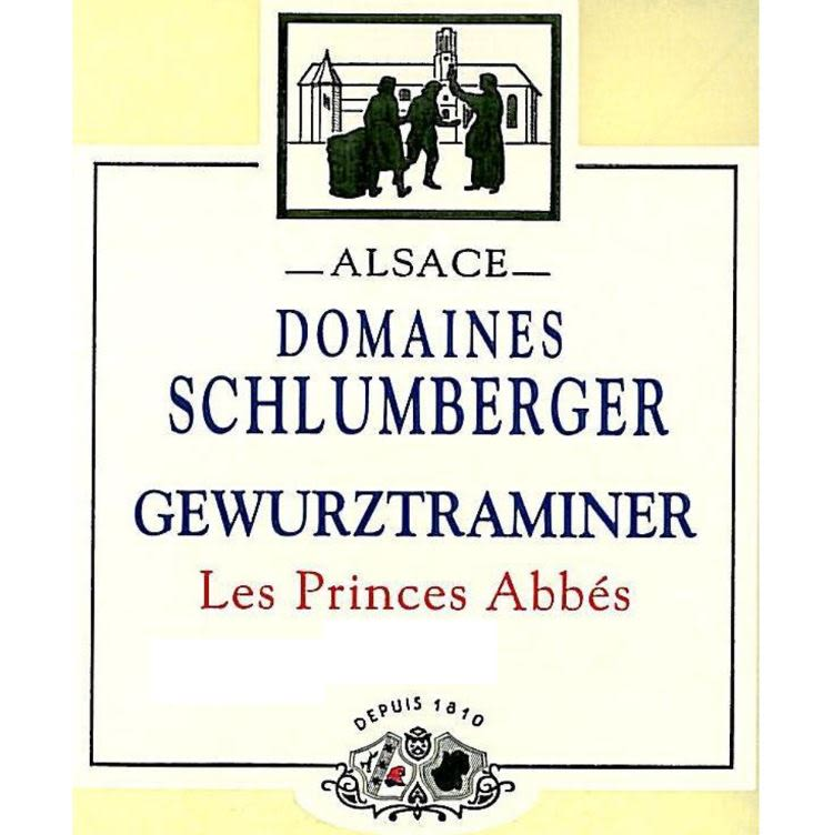 Domaines Schlumberger Les Princes Abbes Gewurztraminer 2014 Front Label