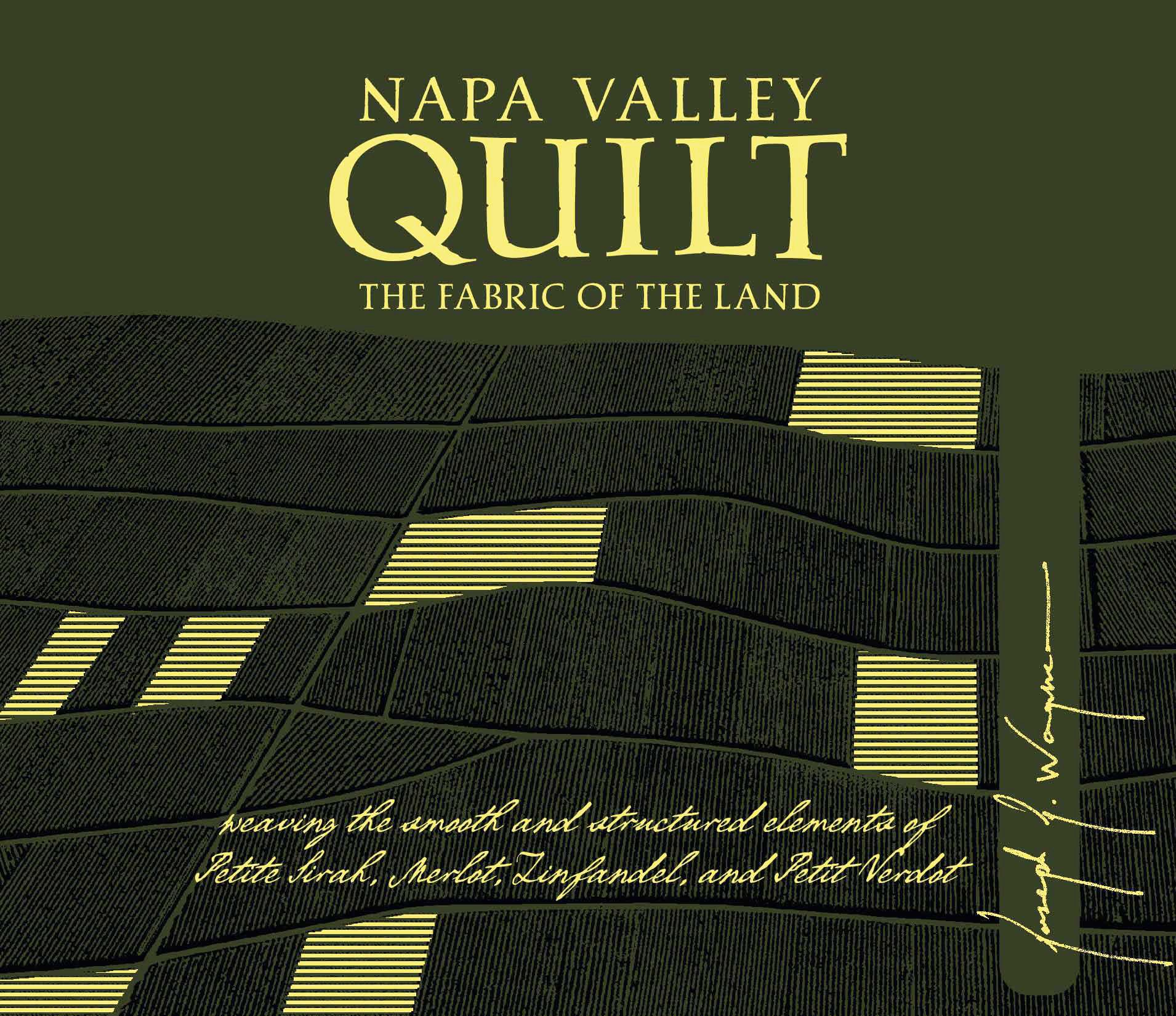 Quilt Napa Valley Red 2018  Front Label