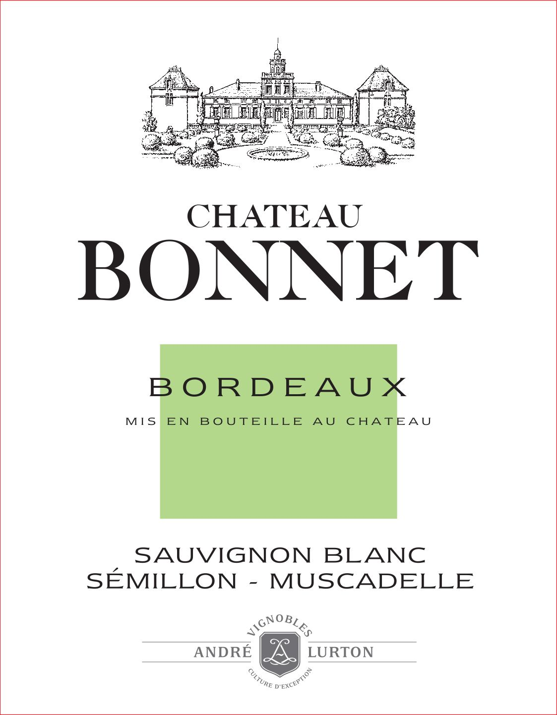 Chateau Bonnet Blanc 2019  Front Label