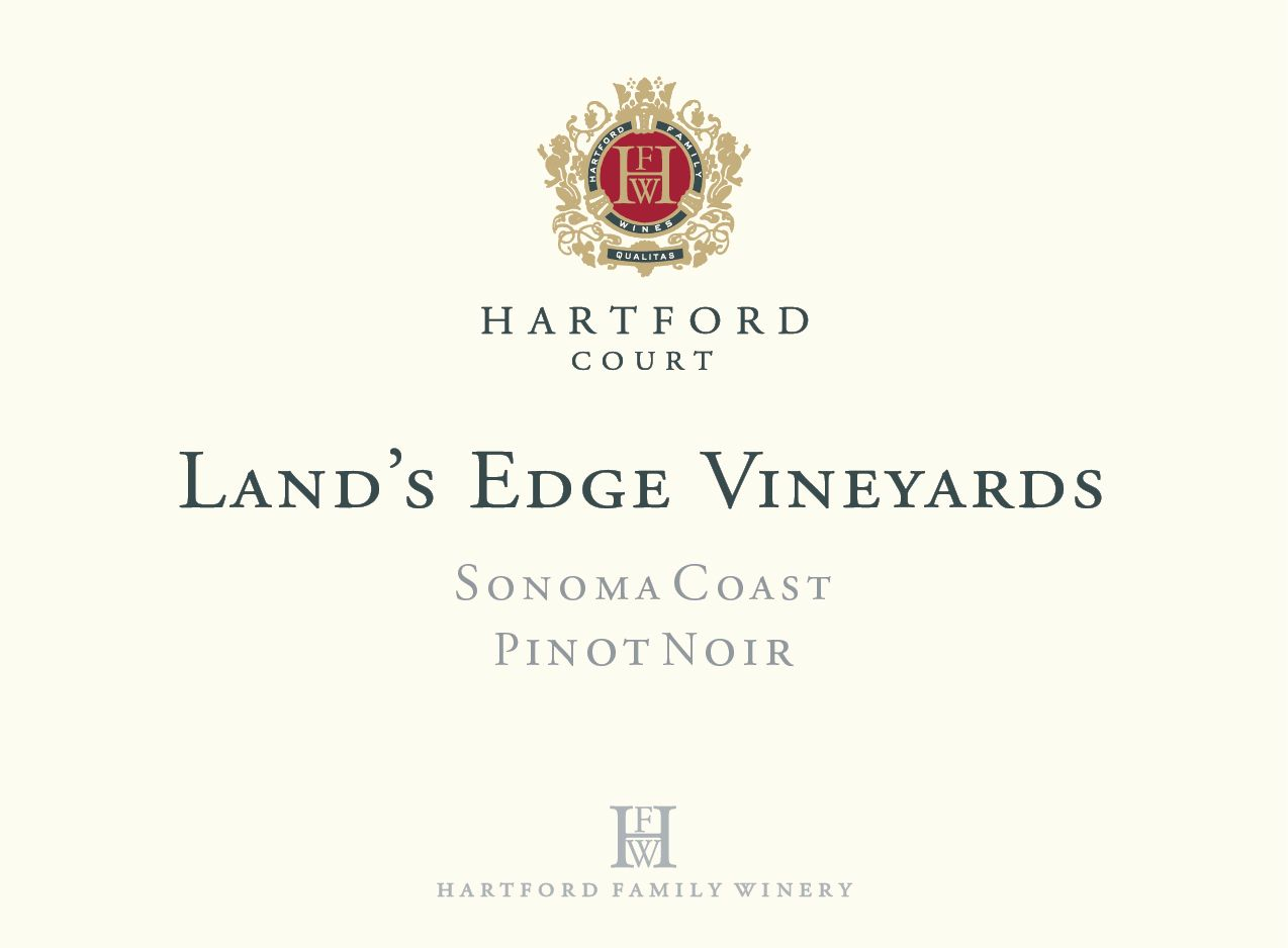 Hartford Court Land's Edge Pinot Noir 2017  Front Label