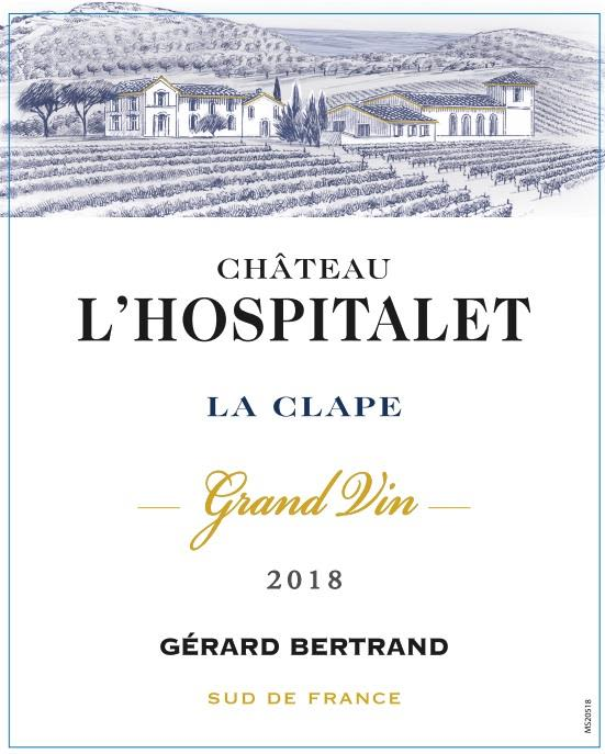 Gerard Bertrand Chateau L'Hospitalet Grand Vin Rouge 2018  Front Label