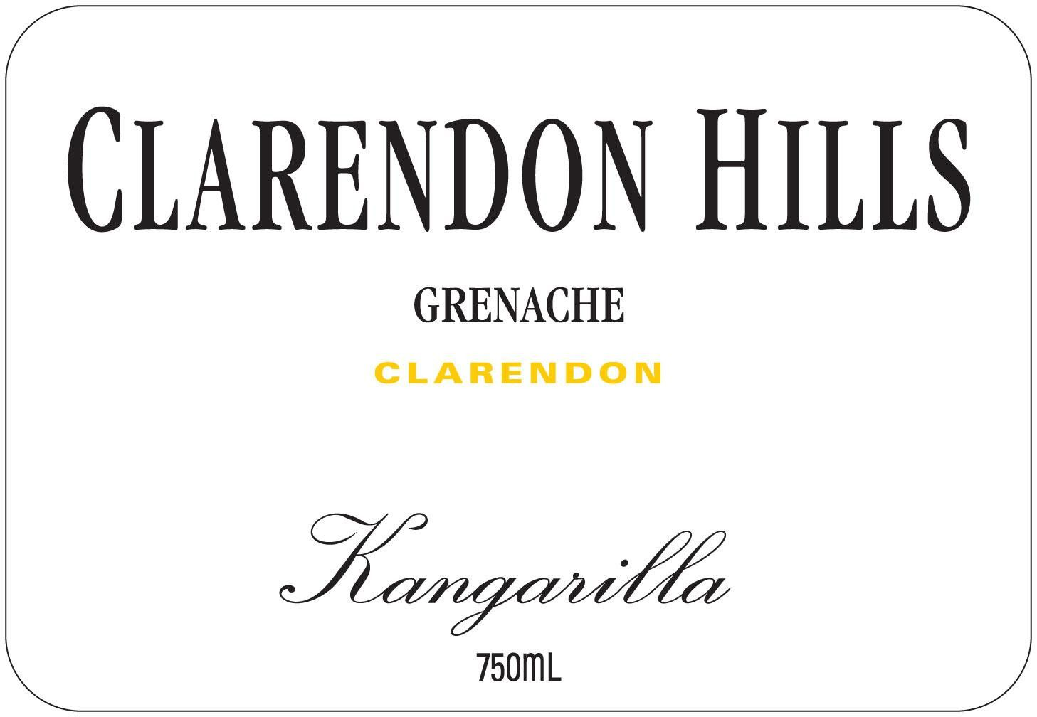 Clarendon Hills Kangarilla Grenache (scuffed labels) 2003  Front Label