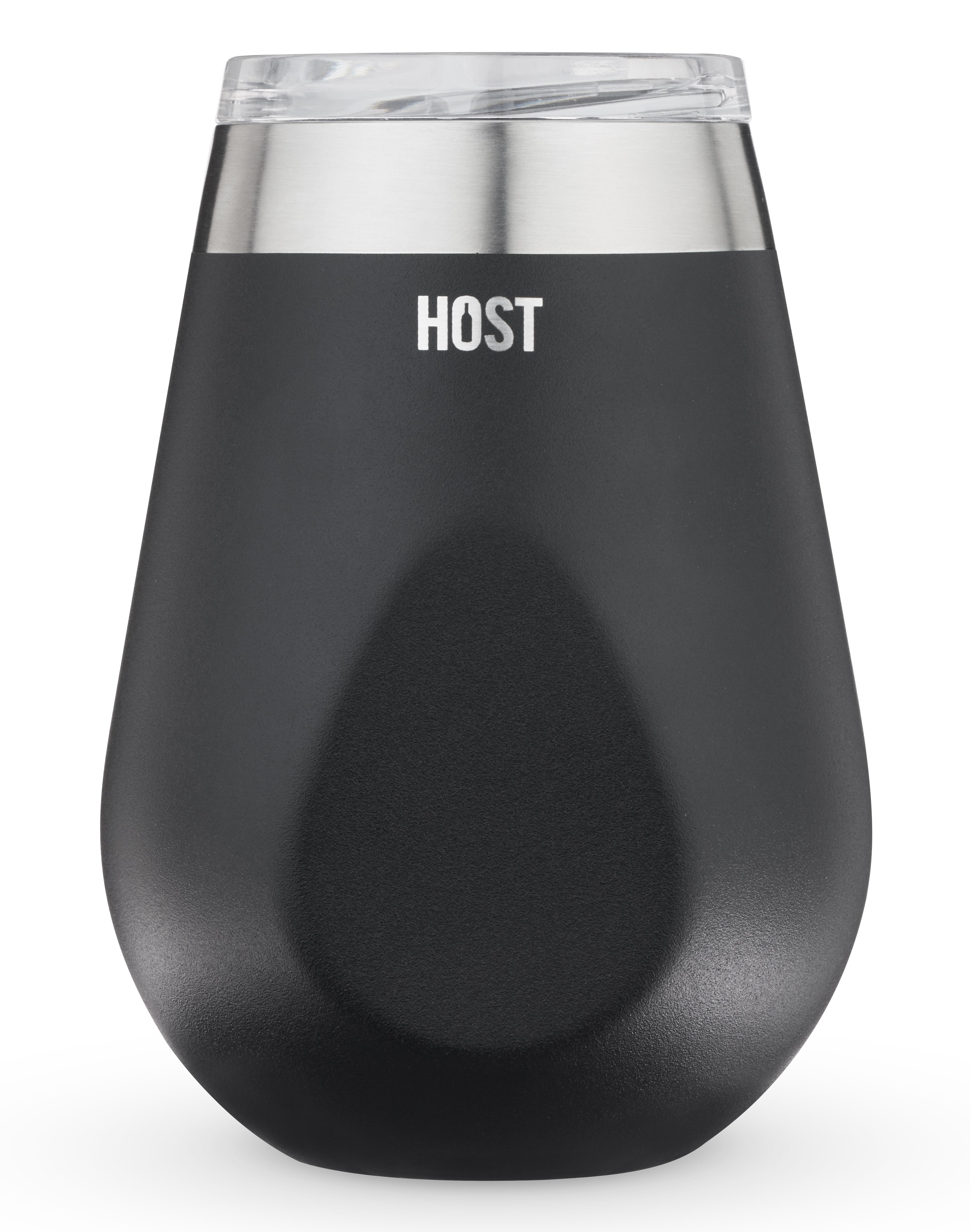 wine.com Vacuum Insulated Wine Tumbler in Black  Gift Product Image