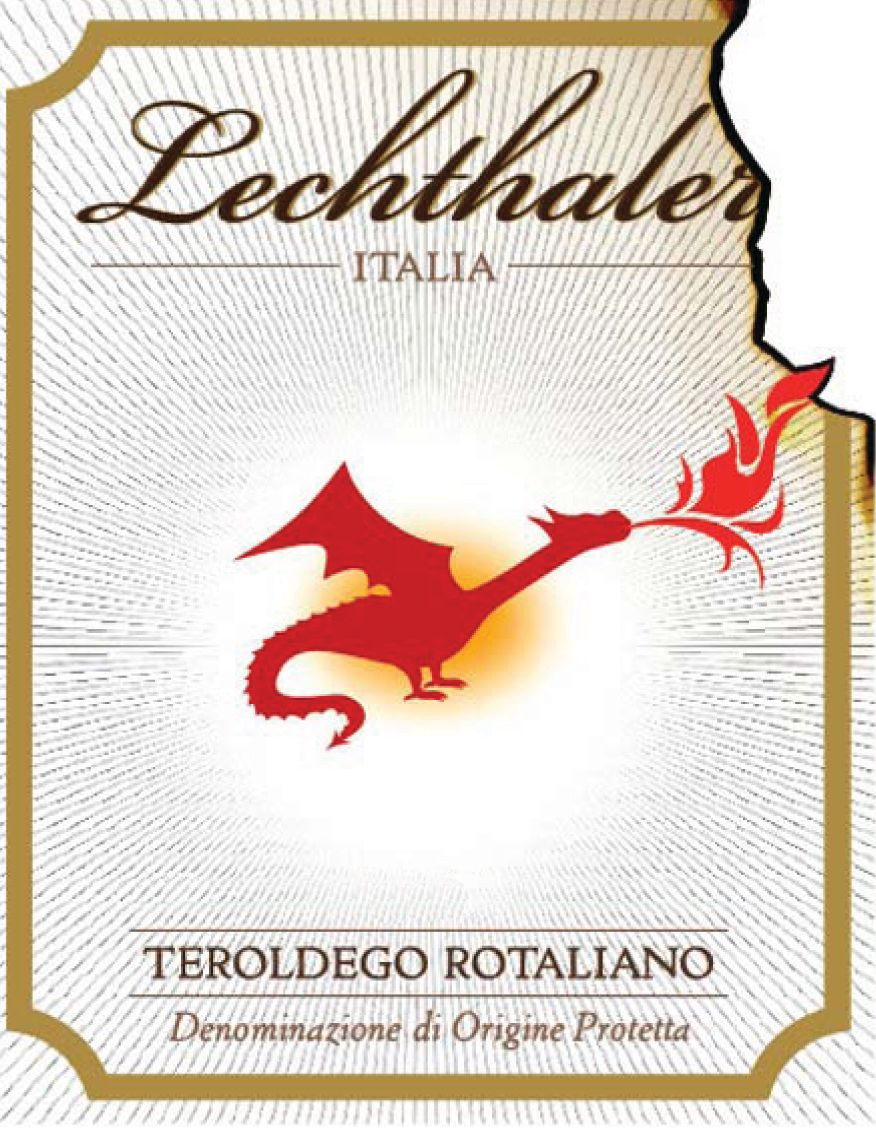Lechthaler Teroldego Rotaliano 2016  Front Label