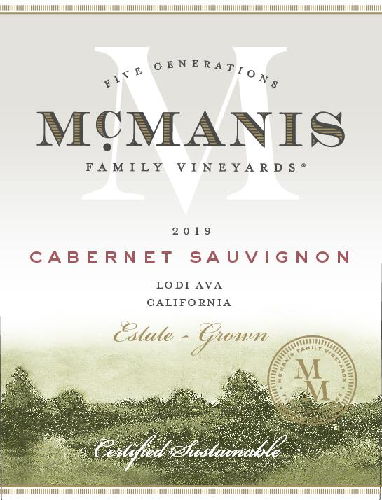 McManis Family Vineyards Cabernet Sauvignon 2019  Front Label