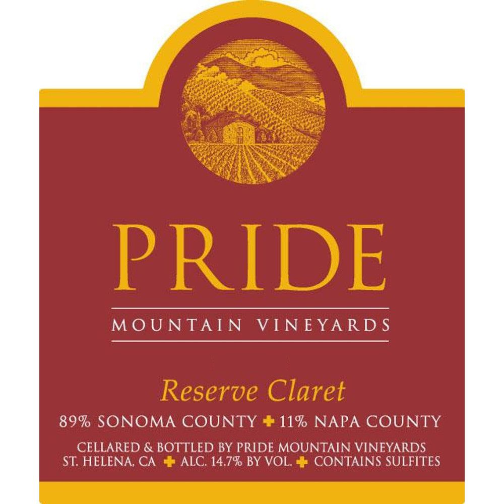 Pride Mountain Vineyards Reserve Claret 2008  Front Label