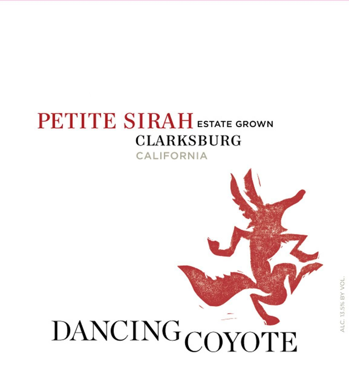 Dancing Coyote Petite Sirah 2016 Front Label