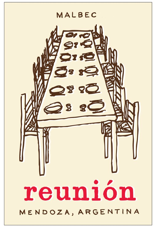 RJ Vinedos Reunion Malbec 2018  Front Label