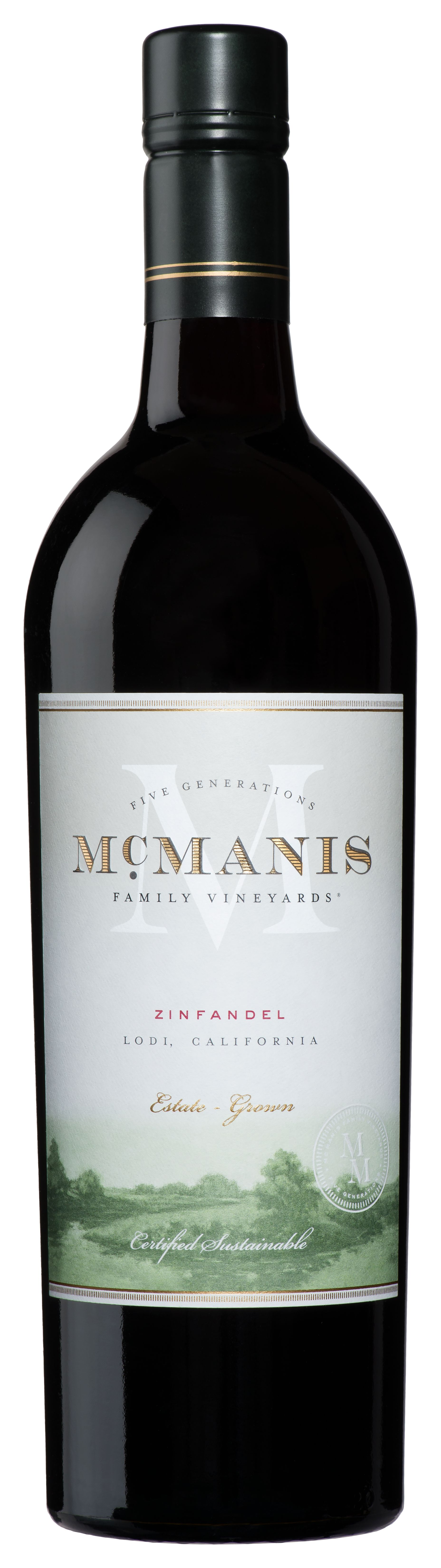 McManis Family Vineyards Zinfandel 2018  Front Bottle Shot