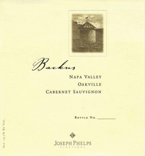 Joseph Phelps Backus Vineyard Cabernet Sauvignon 2008  Front Label